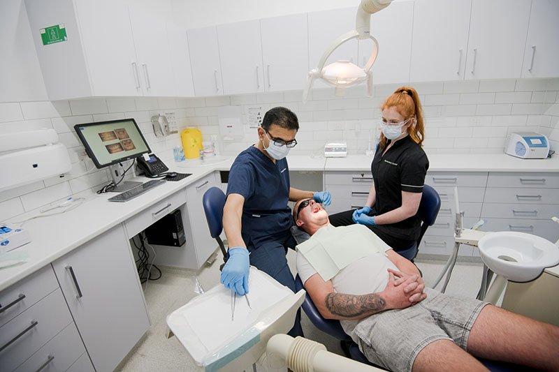 warrnambool dental dr nishant with patient